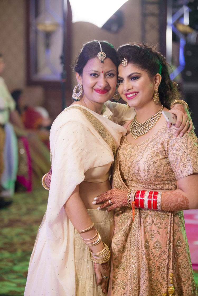 Bride In Matching Outfits With Sister by Arpit Gulati Wedding-photography | Weddings Photos & Ideas