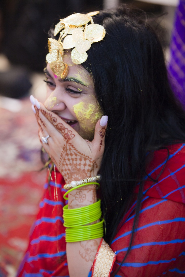 Bride Enjoying The Haldi Ceremony by Arpit Gulati Wedding-photography | Weddings Photos & Ideas