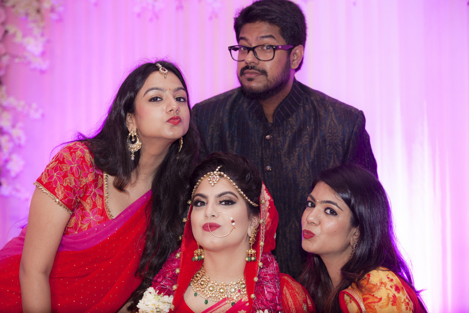Family Shot With The Bride by Arpit Gulati Wedding-photography | Weddings Photos & Ideas