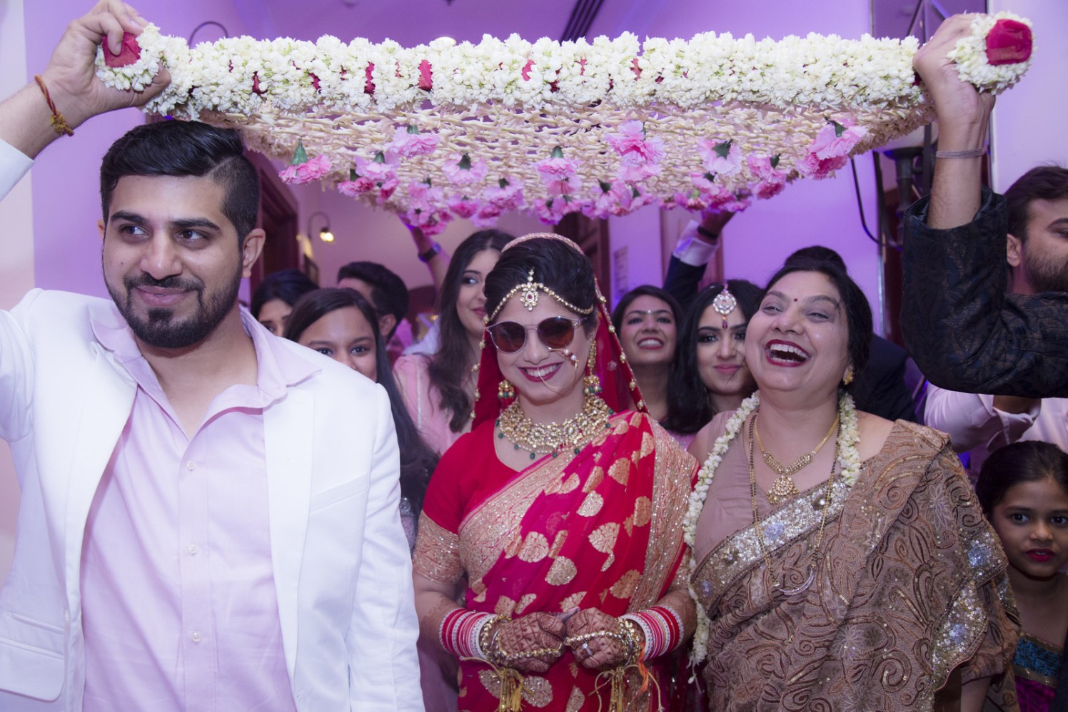 Quirky Bride Entering Wearing Shades by Arpit Gulati Wedding-photography | Weddings Photos & Ideas