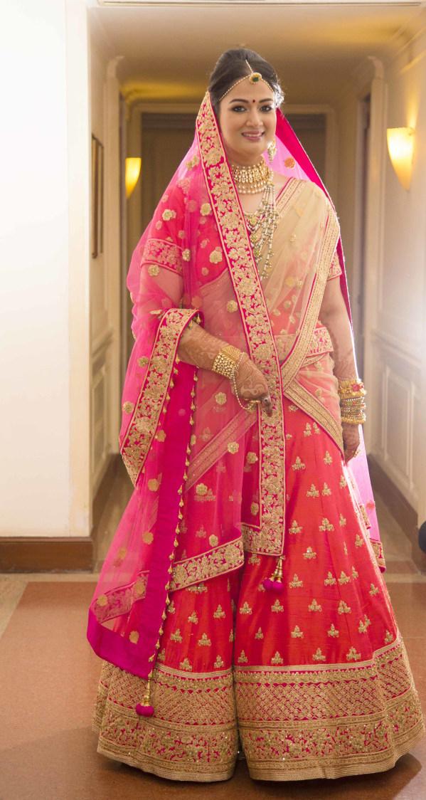 Magnificent Bride Wearing  Fushia Pink Lehenga by Arpit Gulati Wedding-dresses | Weddings Photos & Ideas
