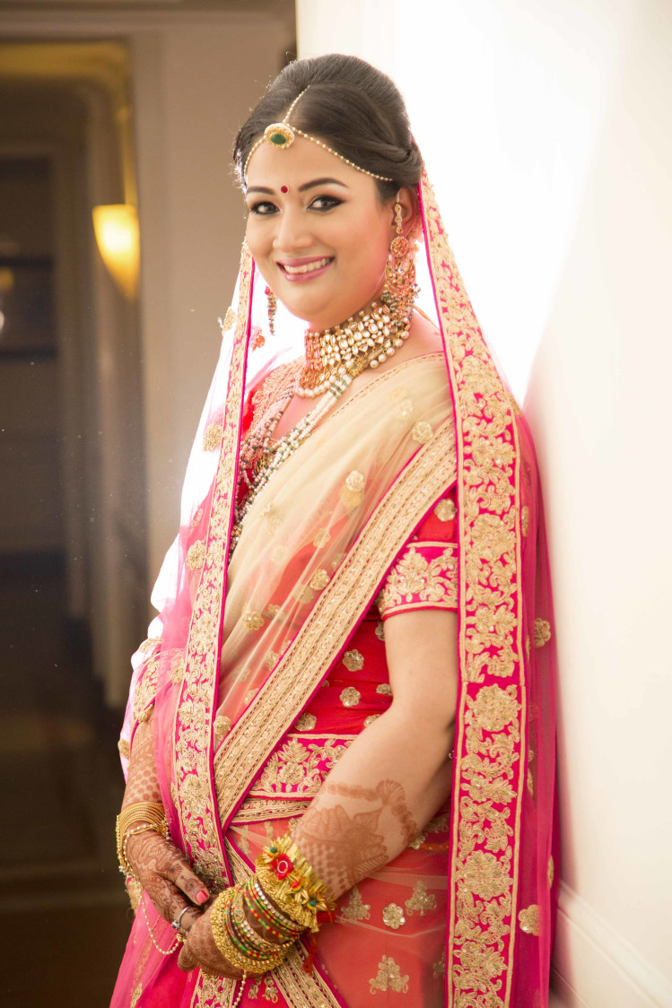 Gorgeous Bride Adorned With Meenakari Jewellery by Arpit Gulati Wedding-photography Wedding-dresses Bridal-makeup | Weddings Photos & Ideas