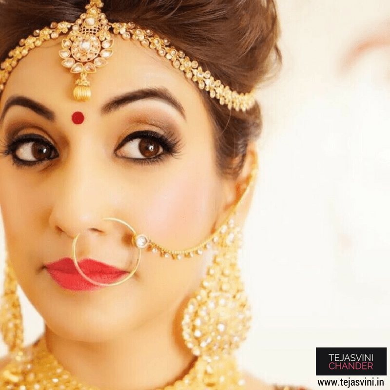 Captivating beauty by Tejasvini Chander Bridal-makeup | Weddings Photos & Ideas