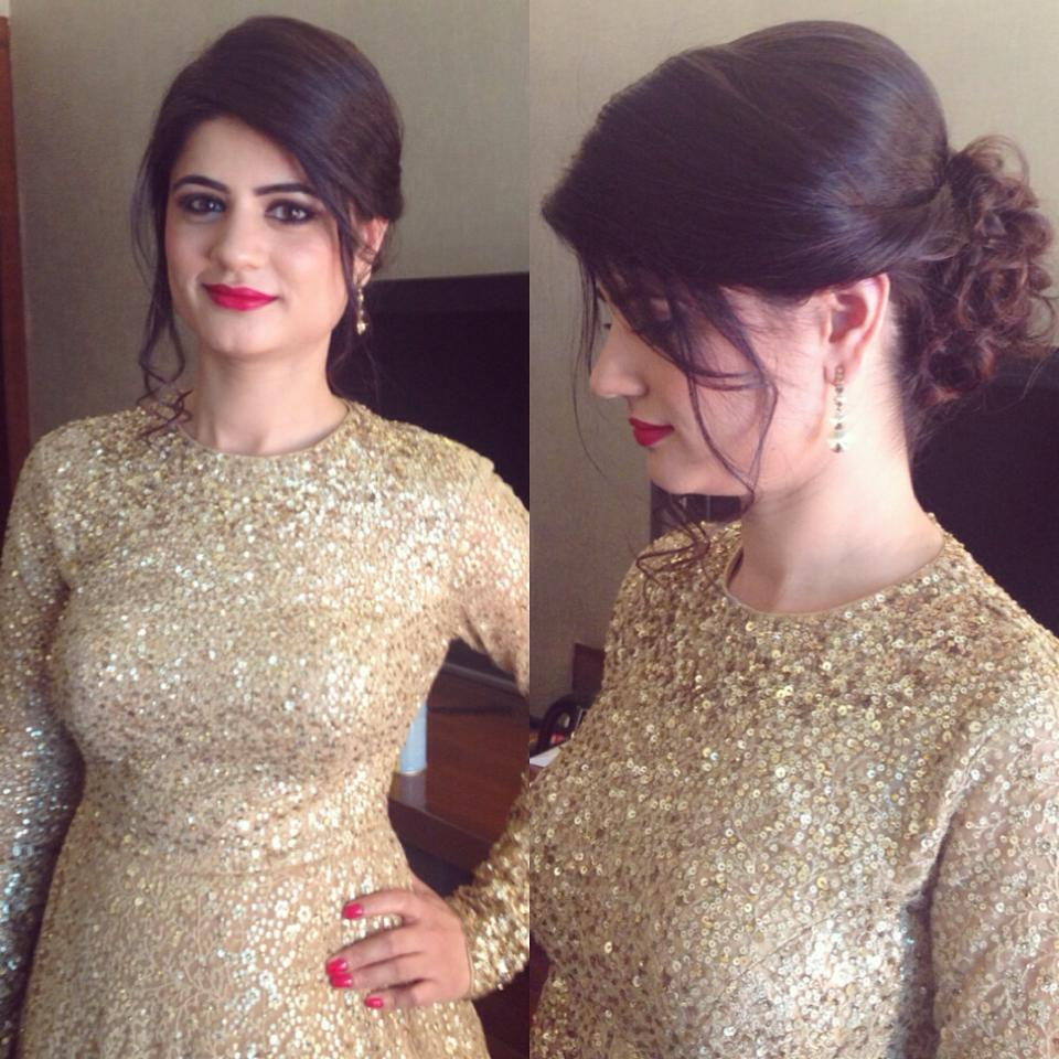 Classy look for the Engagement by Tejasvini Chander Bridal-makeup | Weddings Photos & Ideas