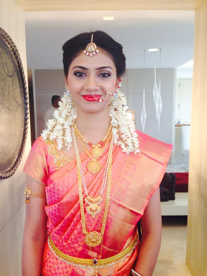 Smiling face of the bride by Tejasvini Chander Bridal-makeup | Weddings Photos & Ideas