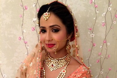 Bride all dolled up by Pooja Sethi Bridal-makeup | Weddings Photos & Ideas