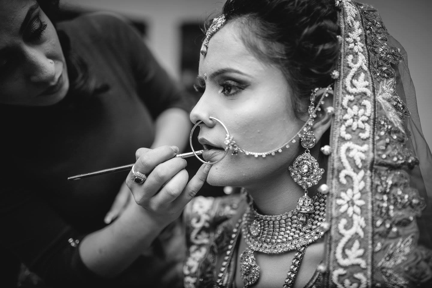 Candid Shot of the bride getting ready by Amish Photography Wedding-photography | Weddings Photos & Ideas