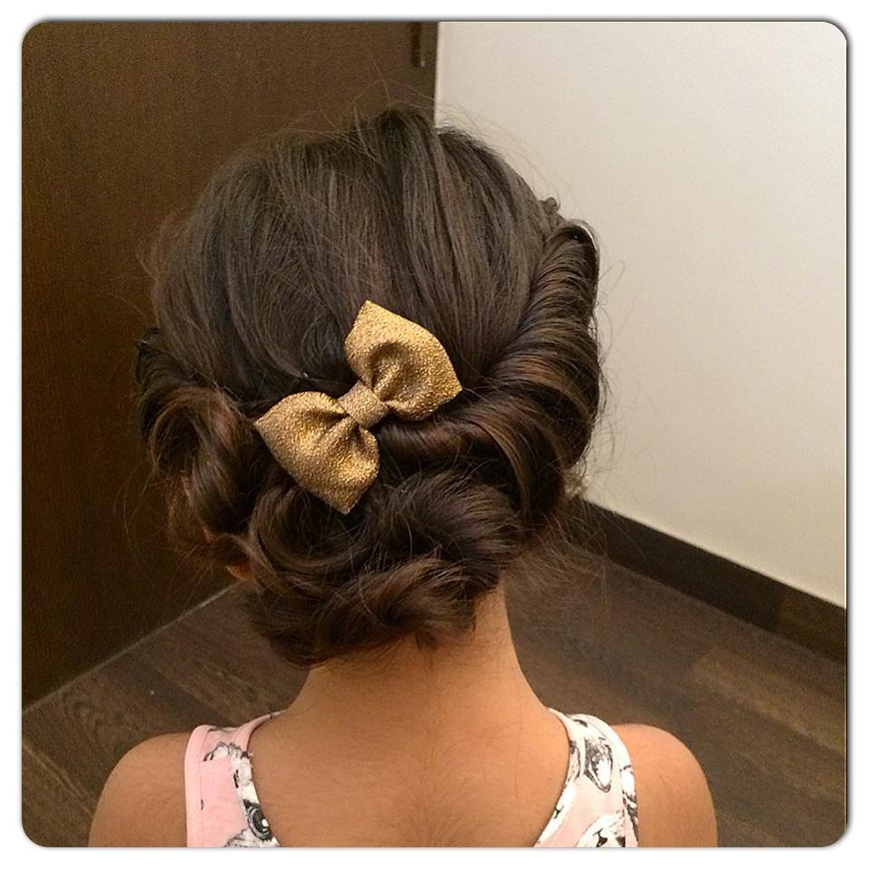 Braided hairstyle by Jhalak Parswani Bridal-makeup | Weddings Photos & Ideas