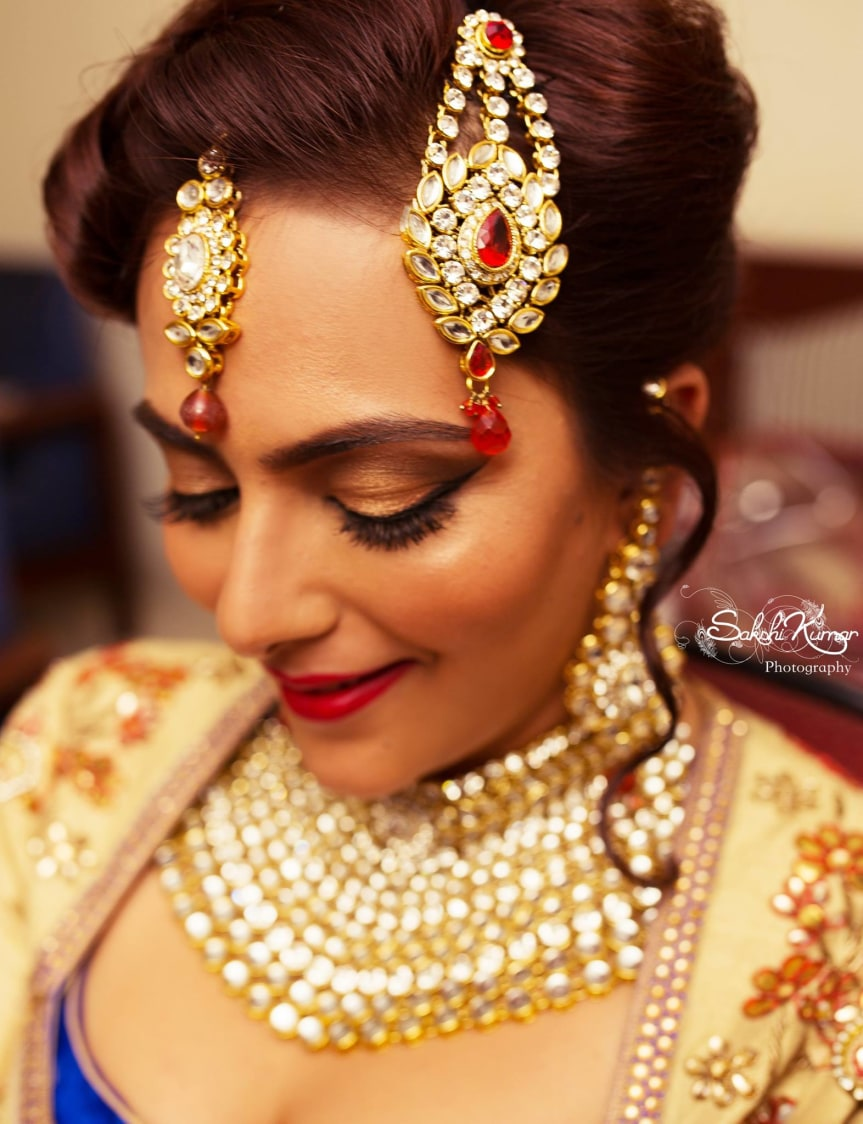 Modern Bridal Kundan Jewellery Embedded With Red Stones by Sakshi Kumar Wedding-photography Bridal-jewellery-and-accessories | Weddings Photos & Ideas