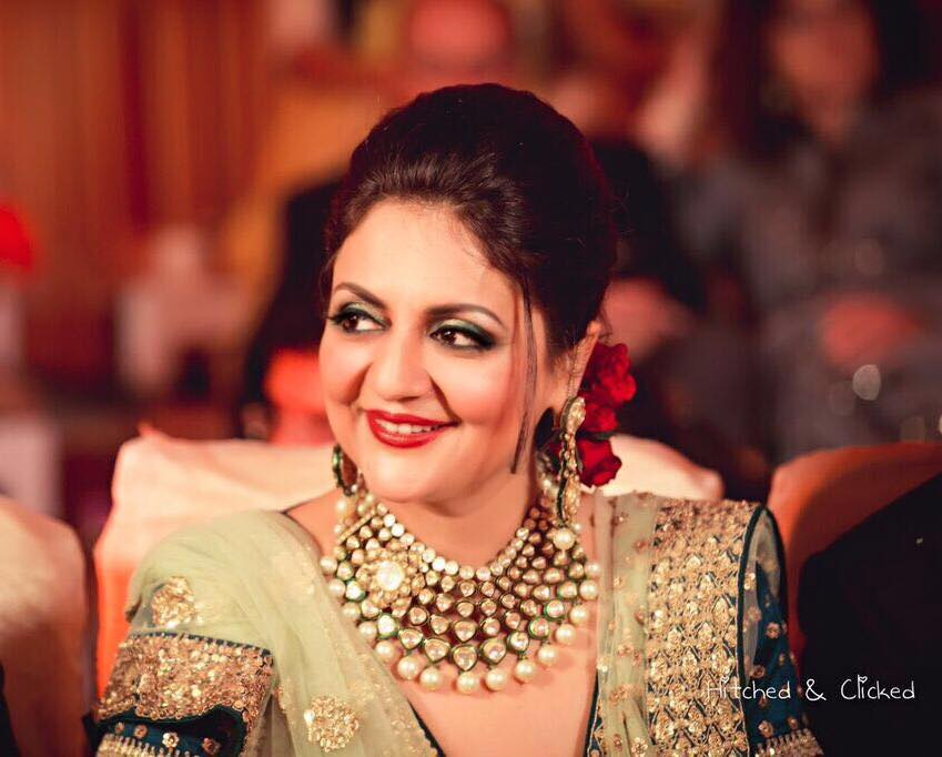 Party makeup and hairdo with roses by Amita Ahluwalia Bridal-makeup | Weddings Photos & Ideas