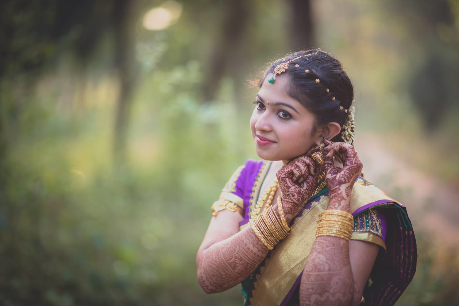 The bride's candid by Click n' Cherish Wedding-photography | Weddings Photos & Ideas