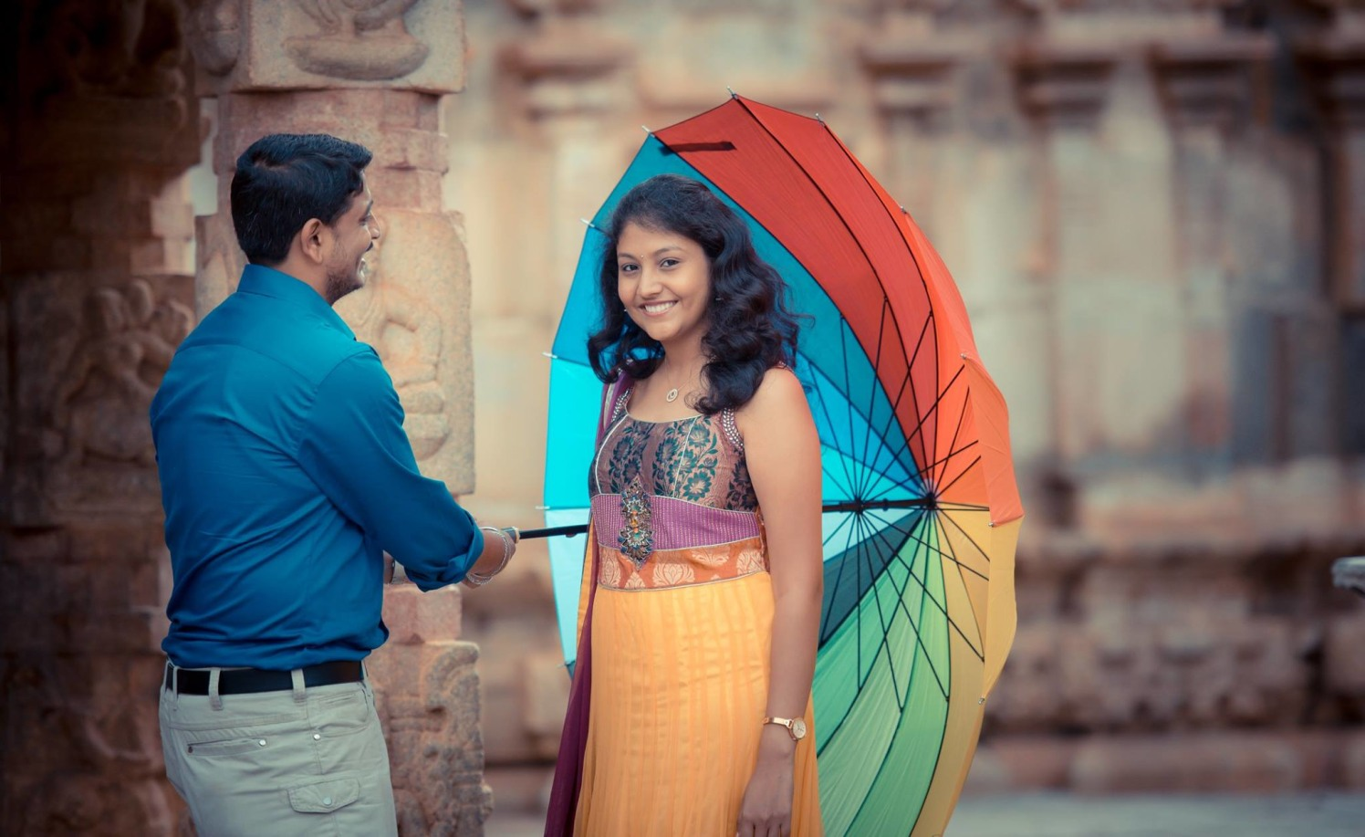With the Umbrella by Click n' Cherish Wedding-photography | Weddings Photos & Ideas