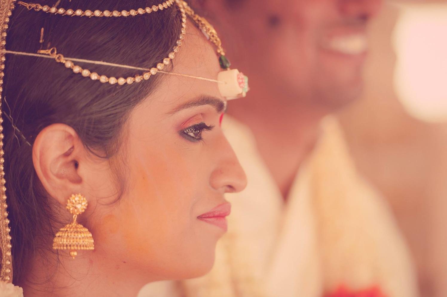 Polki Kundan Mattha Patti And Gold Earrings by Dushyantha Kumar C Wedding-photography | Weddings Photos & Ideas