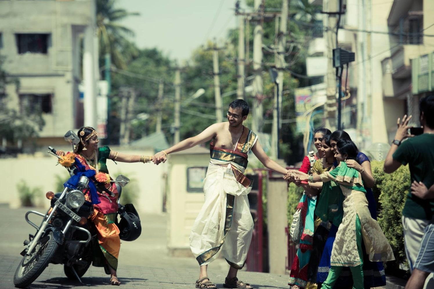 Playful groom by Click n' Cherish Wedding-photography | Weddings Photos & Ideas