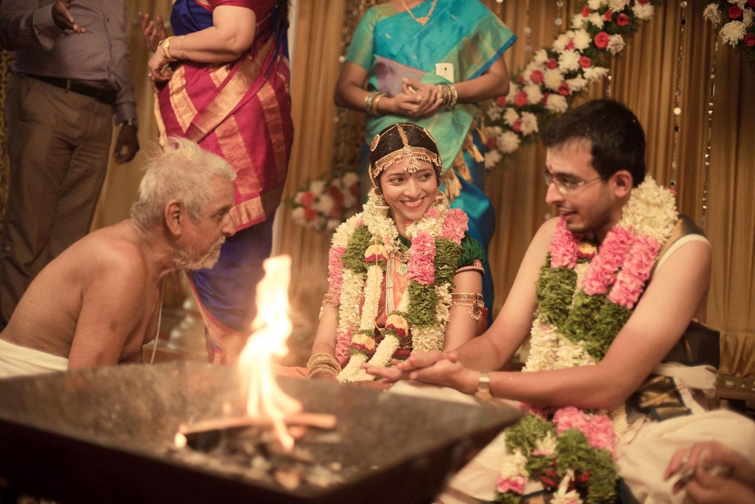 Happy couple by Click n' Cherish Wedding-photography   Weddings Photos & Ideas