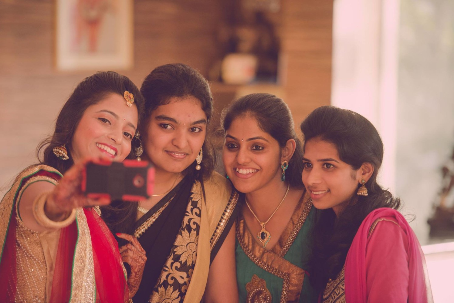 A wedding selfie by Click n' Cherish Wedding-photography | Weddings Photos & Ideas