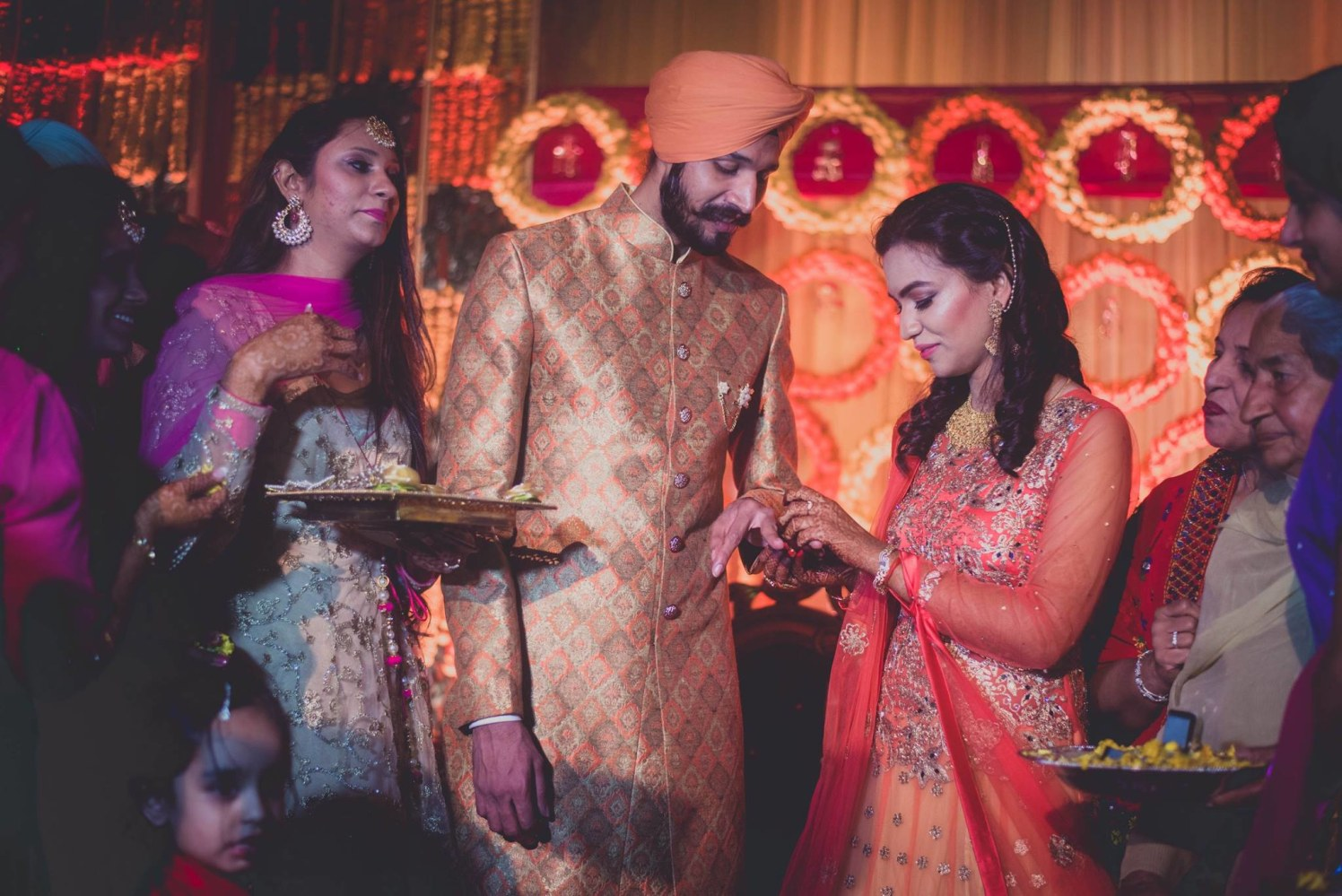 The engagement ceremony by Dushyantha Kumar C Wedding-photography | Weddings Photos & Ideas