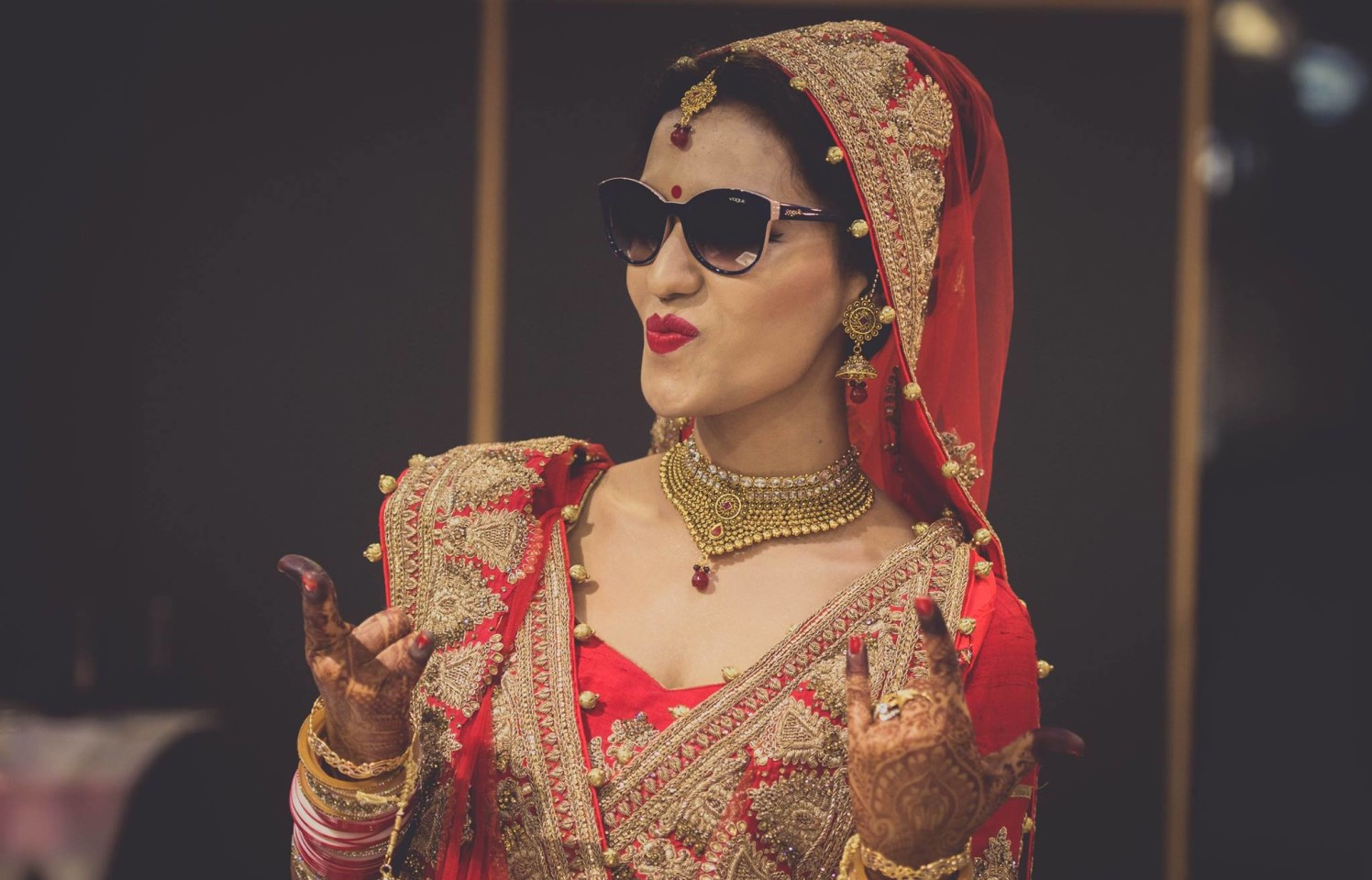 Trendy Bride On her Wedding Day by Dushyantha Kumar C Wedding-photography | Weddings Photos & Ideas
