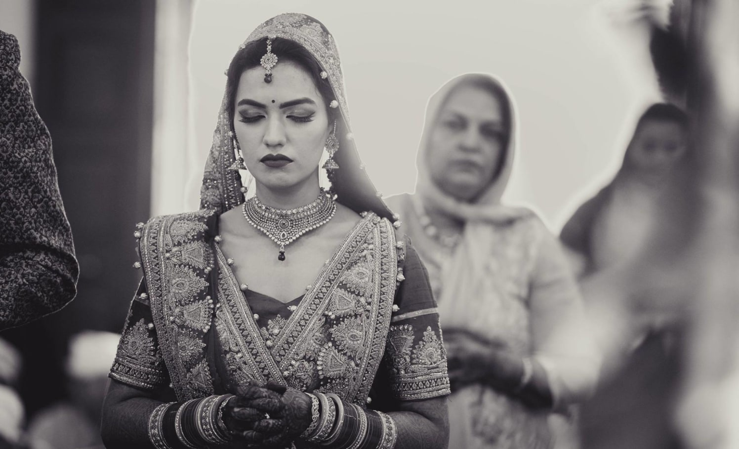 The Punjabi bride's Candid Shot Captured by Dushyantha Kumar C Wedding-photography | Weddings Photos & Ideas