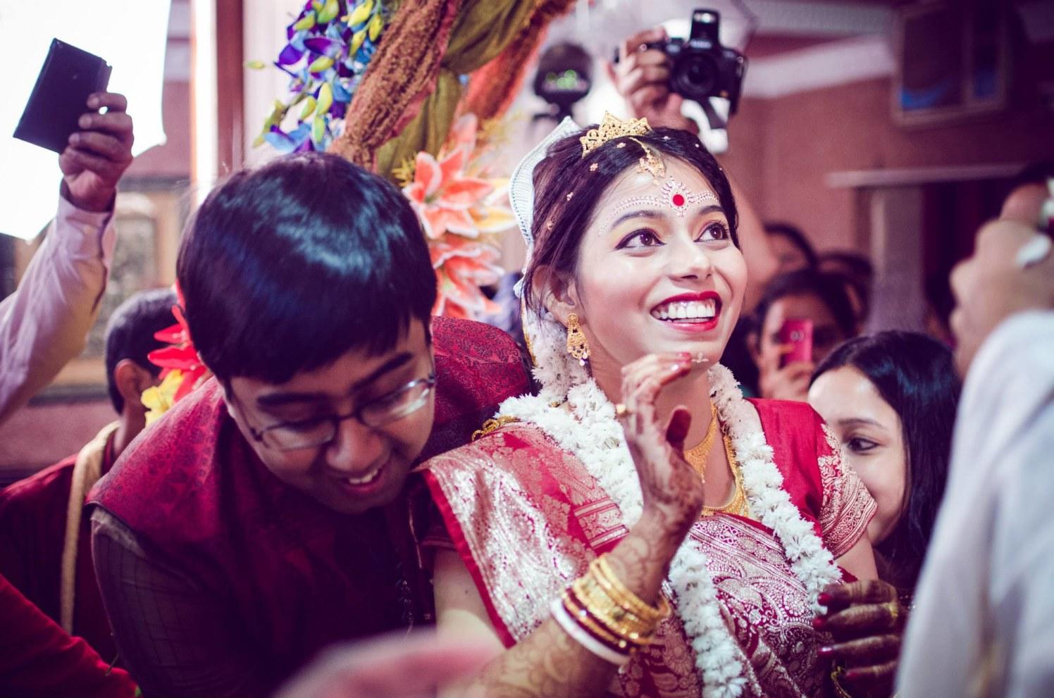 Happy bride by Click n' Cherish Wedding-photography | Weddings Photos & Ideas