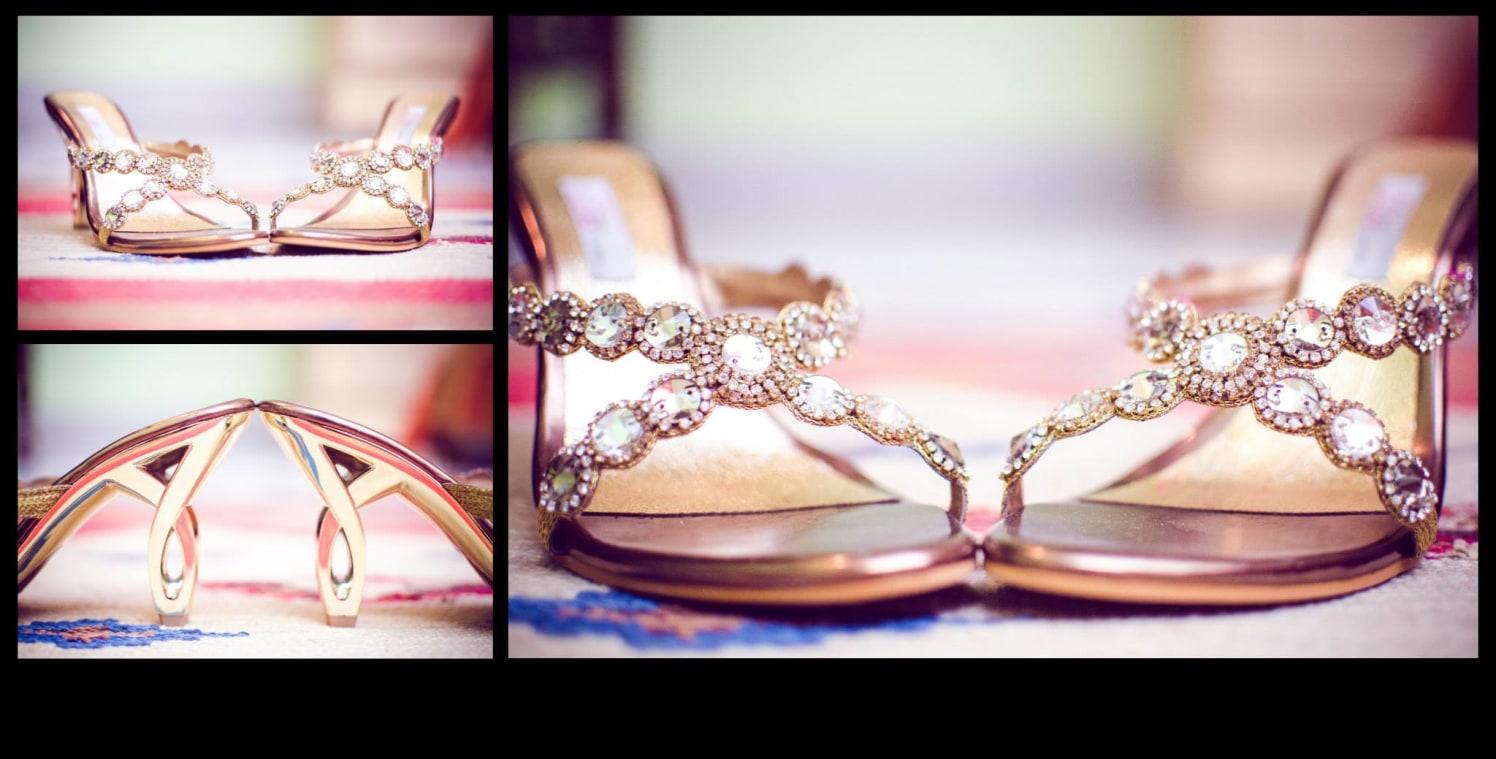 Stone studded bridal footwear by Click n' Cherish Wedding-photography | Weddings Photos & Ideas