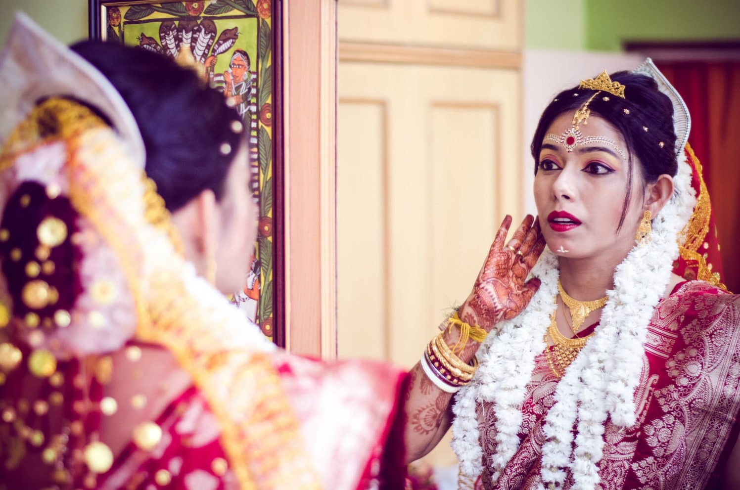 Beautiful bengali bride by Click n' Cherish Wedding-photography | Weddings Photos & Ideas