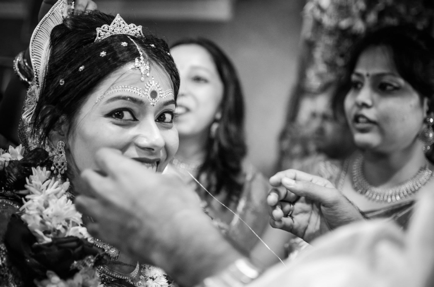 Smiling indian bride by Click n' Cherish Wedding-photography | Weddings Photos & Ideas