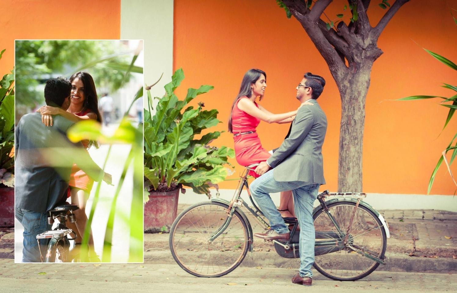 On the Bicycle by Click n' Cherish Wedding-photography | Weddings Photos & Ideas