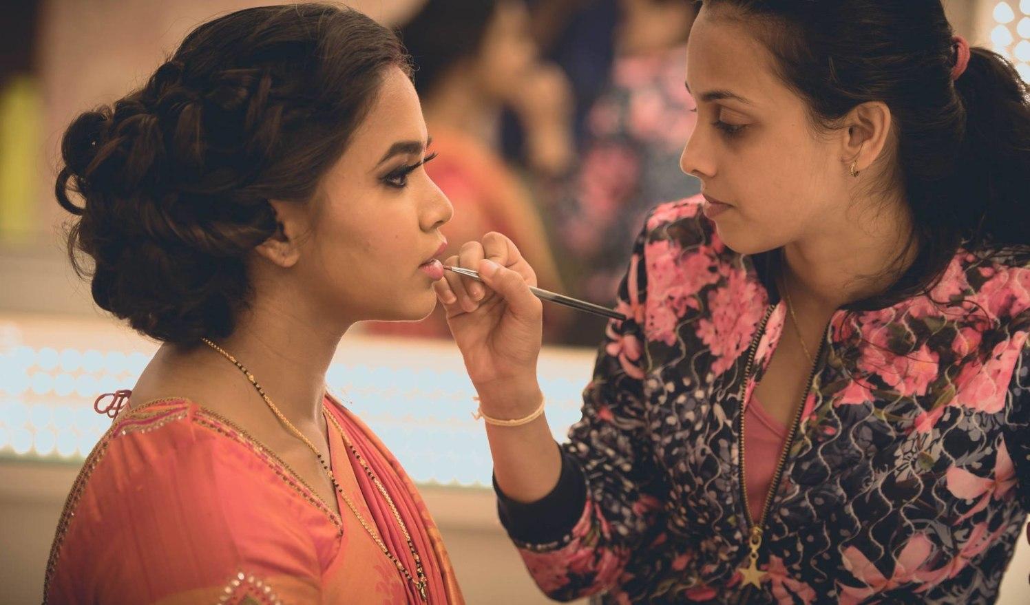 Makeup shenanigans by Click n' Cherish Wedding-photography   Weddings Photos & Ideas