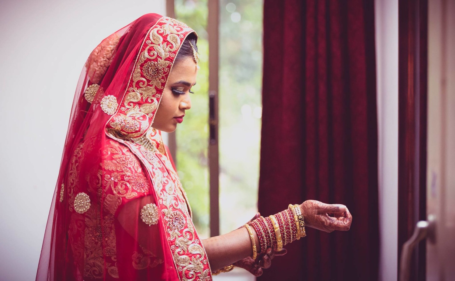 The beautiful indian bride by Click n' Cherish Wedding-photography | Weddings Photos & Ideas