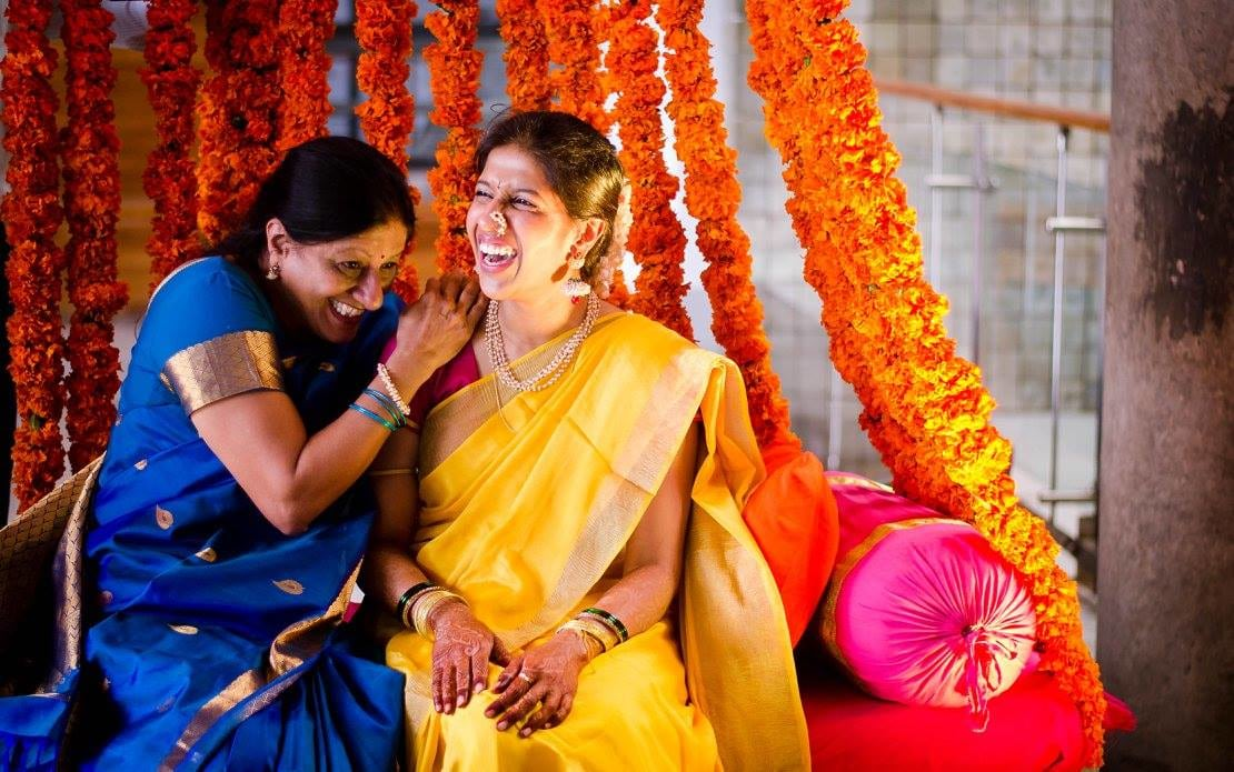 Happy moments with bride by Click n' Cherish Wedding-photography | Weddings Photos & Ideas