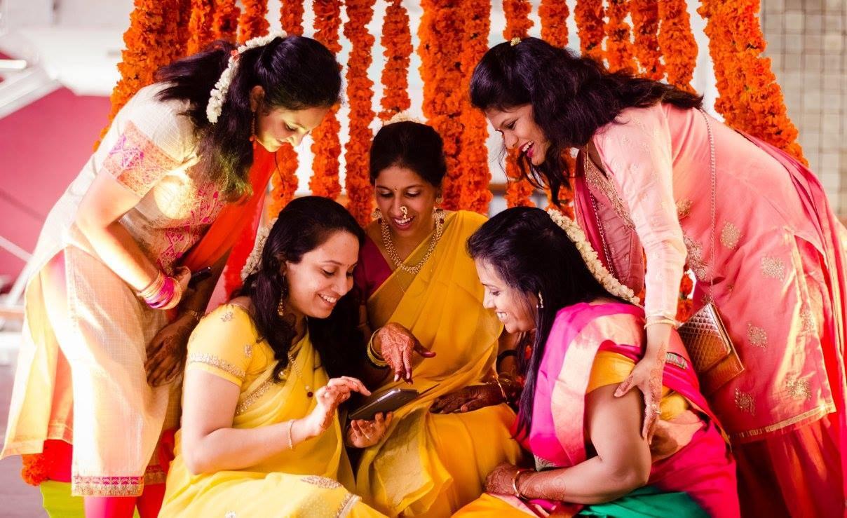 Bride and bridesmaids by Click n' Cherish Wedding-photography | Weddings Photos & Ideas