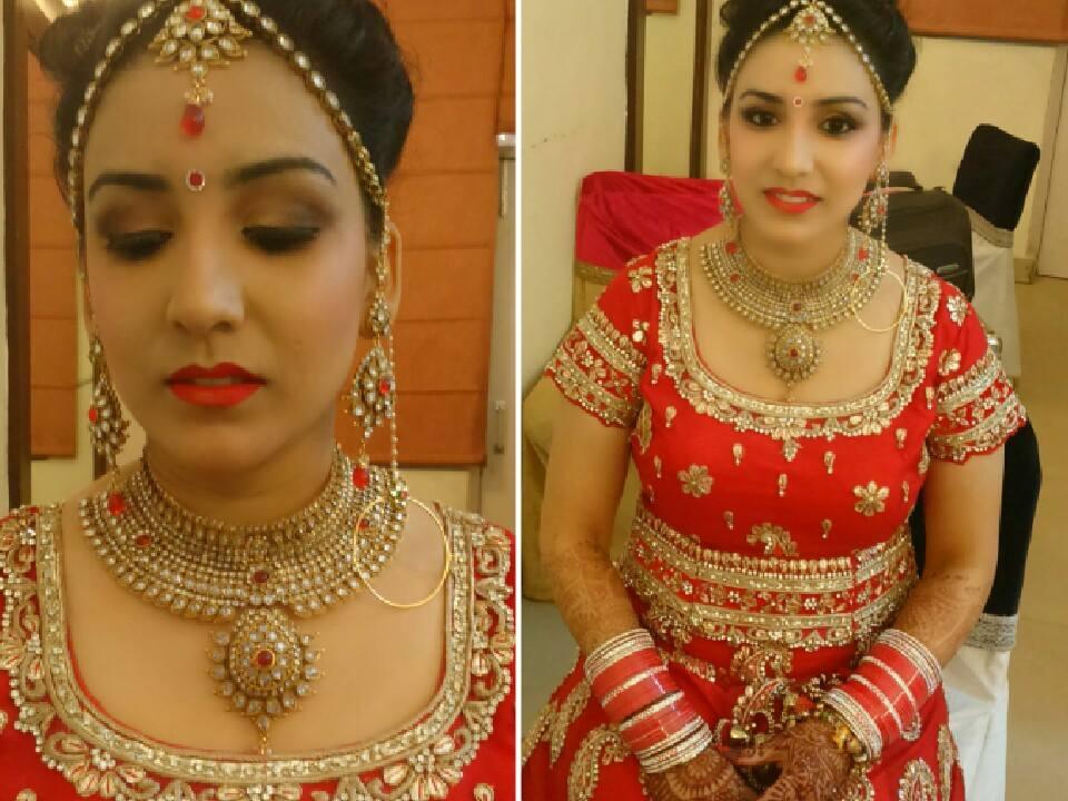 Bride in Red by Mya Dang Bridal-makeup | Weddings Photos & Ideas