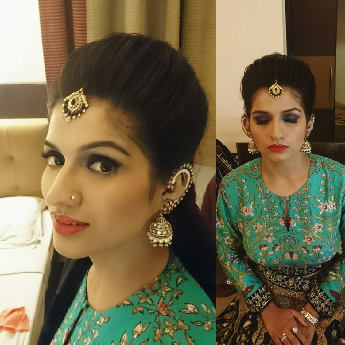 Apt look for Engagement by Mya Dang Bridal-makeup | Weddings Photos & Ideas