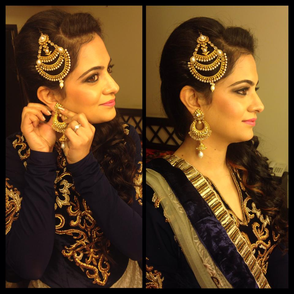 Appropriate look for Engagement by Neha Puri Bridal-makeup | Weddings Photos & Ideas