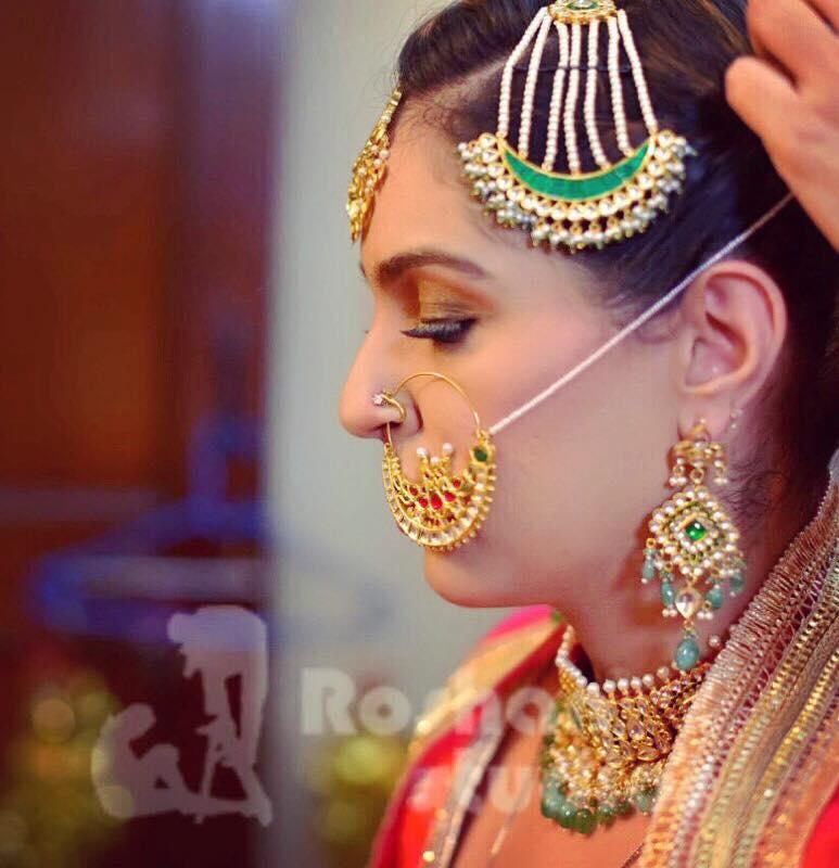 Bridal jewellery on point. by Gursheen sethi Bridal-makeup   Weddings Photos & Ideas