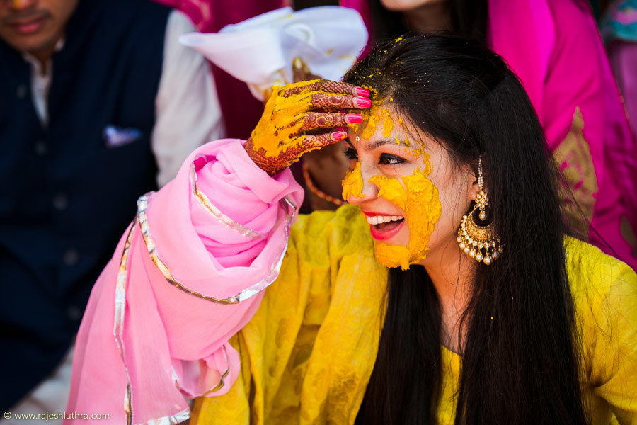 Haldi Tinted Bride by Rajesh Luthra Wedding-photography | Weddings Photos & Ideas