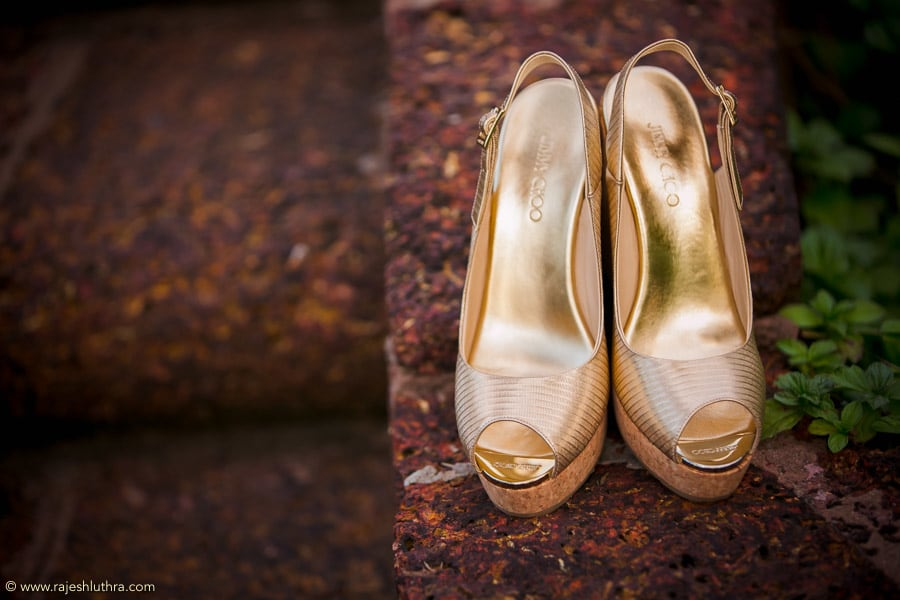 Golden  Comfortable Wedges For The Bride by Rajesh Luthra Wedding-photography | Weddings Photos & Ideas