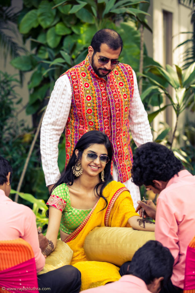 Quirky Bride Wearing Shades by Rajesh Luthra Wedding-photography | Weddings Photos & Ideas