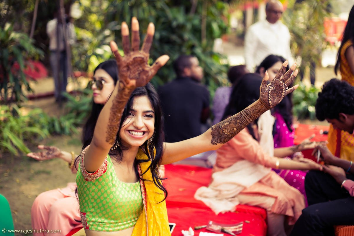 Contemporary mehendi design by Rajesh Luthra Photography Wedding-photography | Weddings Photos & Ideas