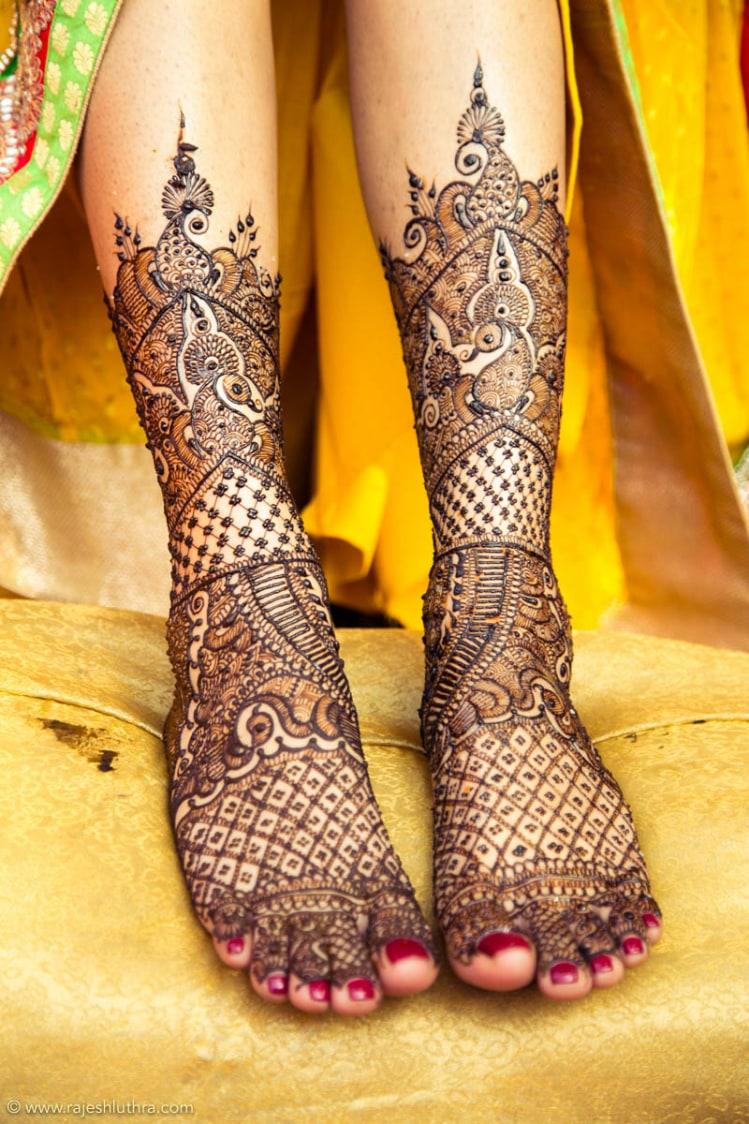 Intricately Patterned Mehendi by Rajesh Luthra Photography Wedding-photography Bridal-mehendi | Weddings Photos & Ideas