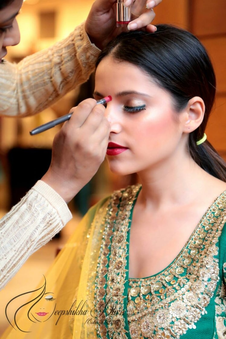 That glow on her cheek! by Deepshikha Dhiri Bridal-makeup | Weddings Photos & Ideas