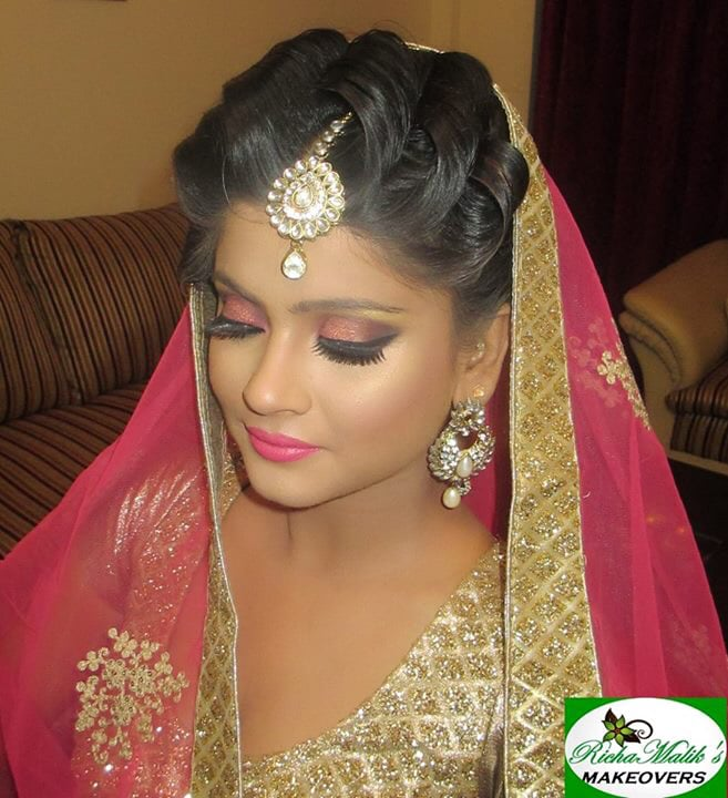 In love with the salmon-pink! by Richa Malik Bridal-makeup | Weddings Photos & Ideas