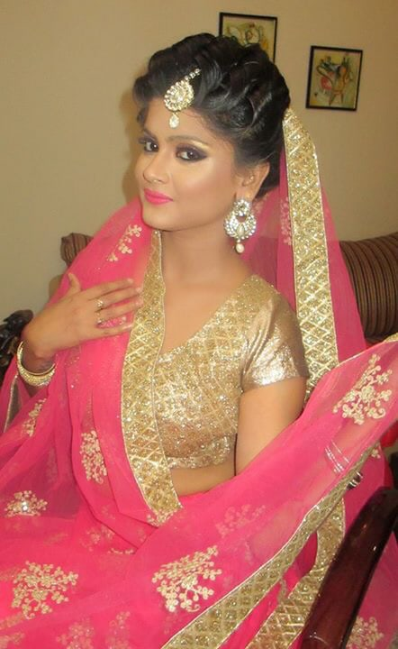 Highlighter and Bronzer on point! by Richa Malik Bridal-makeup | Weddings Photos & Ideas