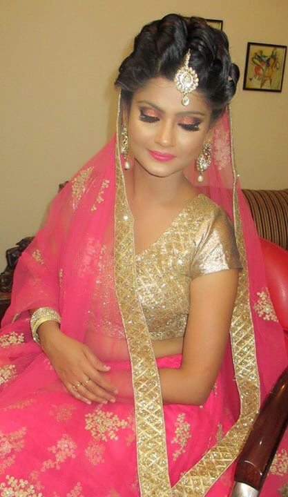 High-toned elegance in pink! by Richa Malik Bridal-makeup | Weddings Photos & Ideas