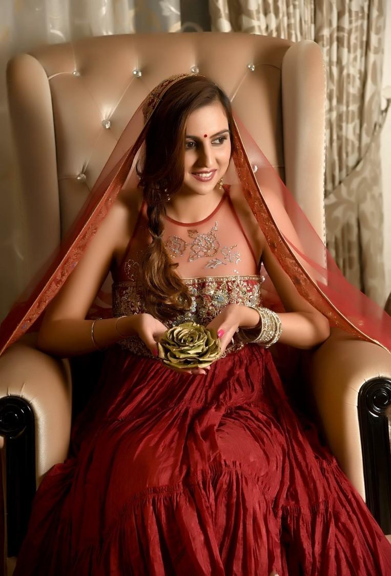 Loving her hairdo! by Richa Malik Bridal-makeup | Weddings Photos & Ideas