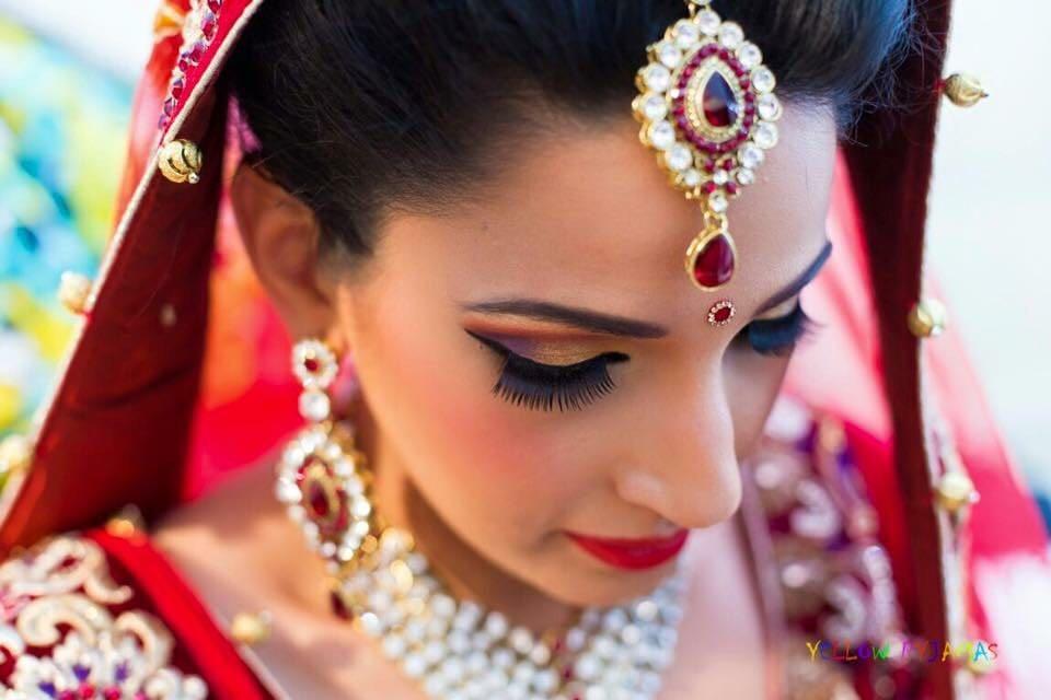 Bridal top shot by Richa Malik Bridal-makeup | Weddings Photos & Ideas