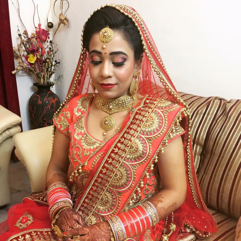 Smokey eye for this bride by Richa Malik Bridal-makeup | Weddings Photos & Ideas