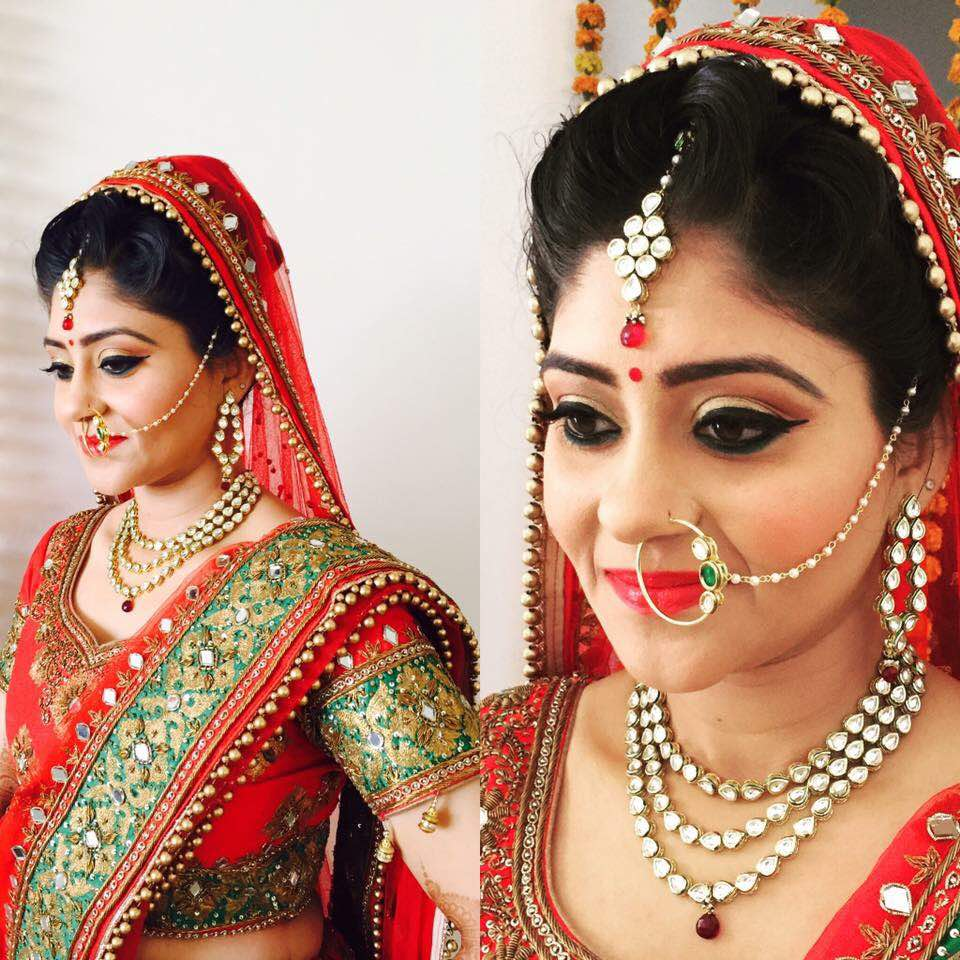 Smiling brides are everybody's favorite by Richa Malik Bridal-makeup | Weddings Photos & Ideas