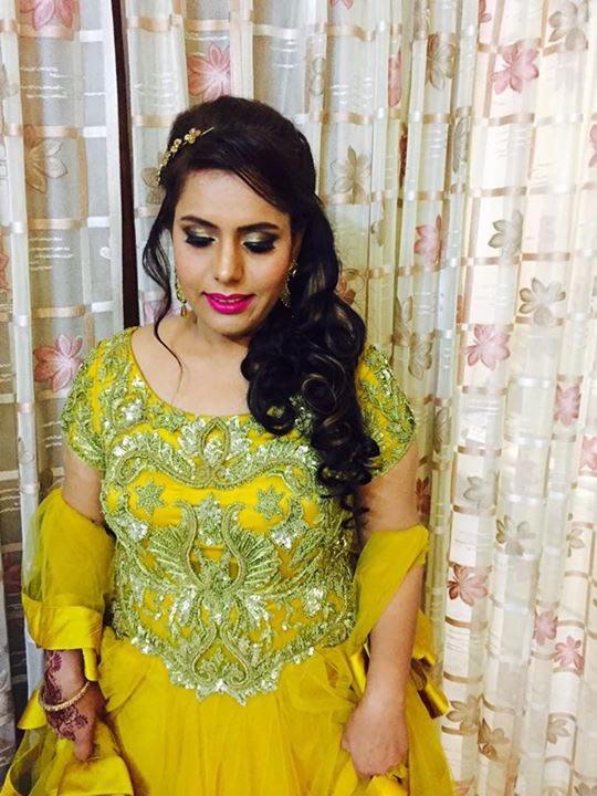 With a tinge of yellow! by Richa Malik Bridal-makeup | Weddings Photos & Ideas